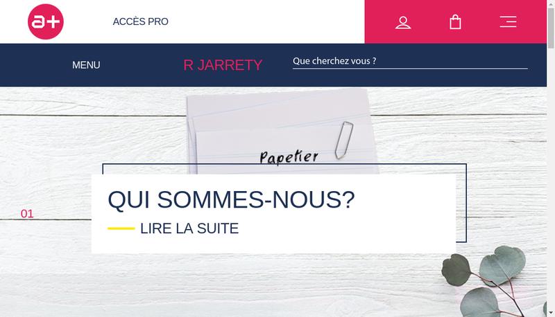 Capture d'écran du site de Societe Jarrety