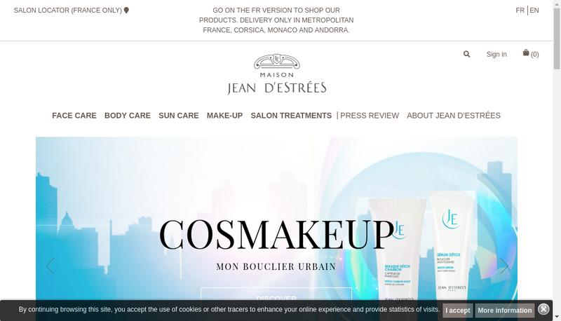 Capture d'écran du site de Jean d'Estrees