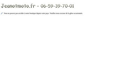 Site internet de Jeanotmoto