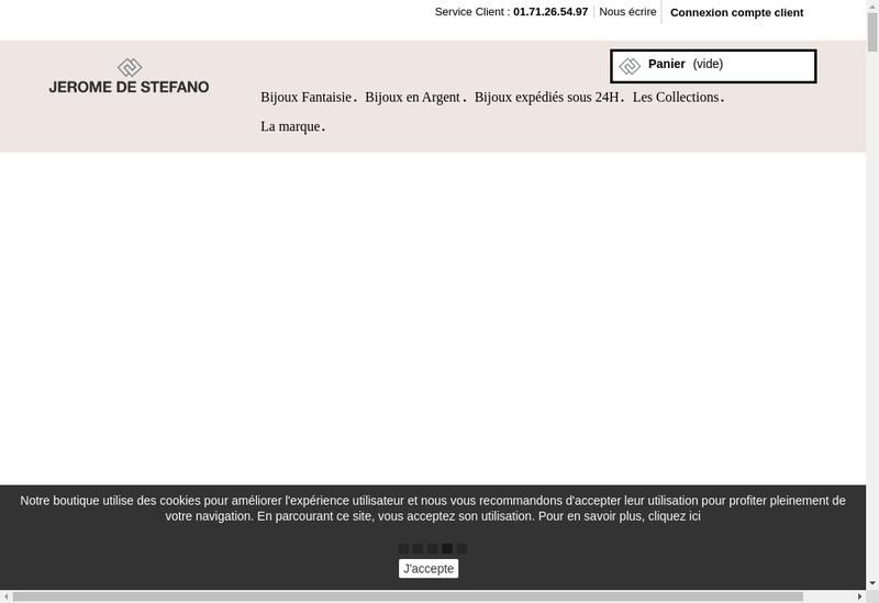 Capture d'écran du site de Atelier Jaluxe Paris