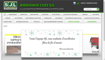 Capture d'écran du site de SJL