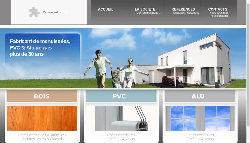 Capture d'écran du site de Menuiserie Joffroy