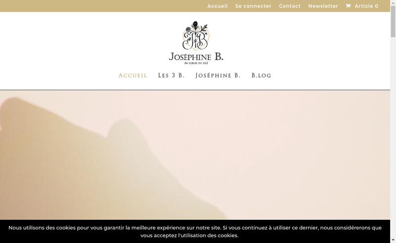 Capture d'écran du site de Josephine B