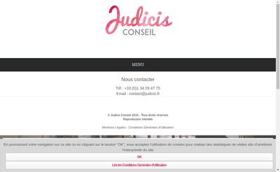 Site internet de Judicis Conseil