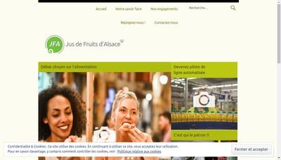 Site internet de Les Jus de Fruits d'Alsace