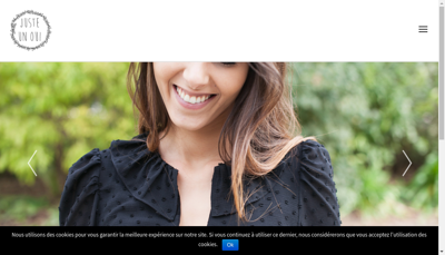 Capture d'écran du site de Juste Un Oui