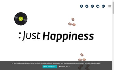 Site internet de Just Happiness