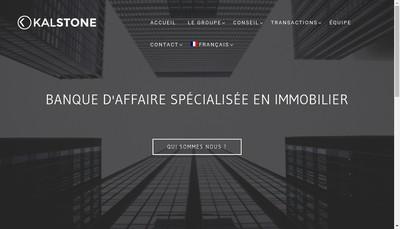 Site internet de Kalstone
