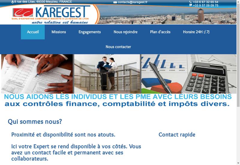 Capture d'écran du site de Karegest