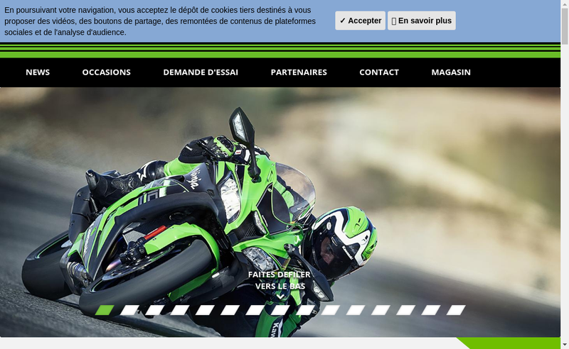Capture d'écran du site de O'4 Moto
