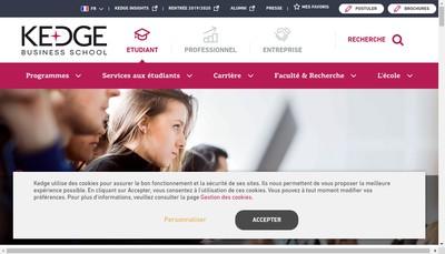 Site internet de Groupe Kedge Business School