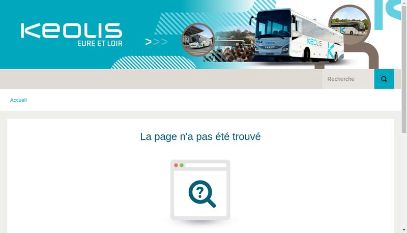 Capture d'écran du site de Keolis Eure et Loir