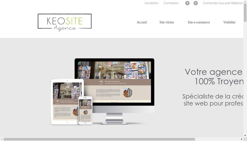 Capture d'écran du site de Keosite