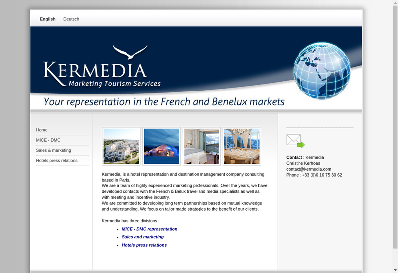 Capture d'écran du site de Kermedia