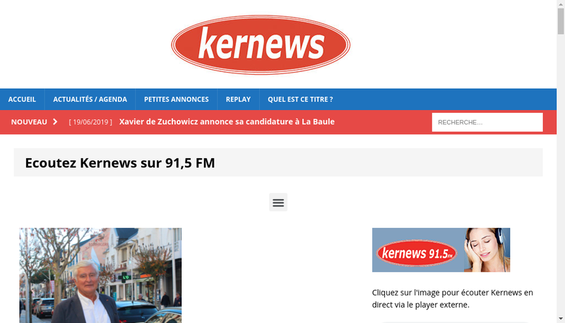 Capture d'écran du site de Kernews Radio