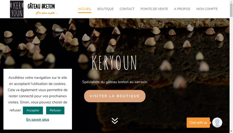 Capture d'écran du site de Keryoun
