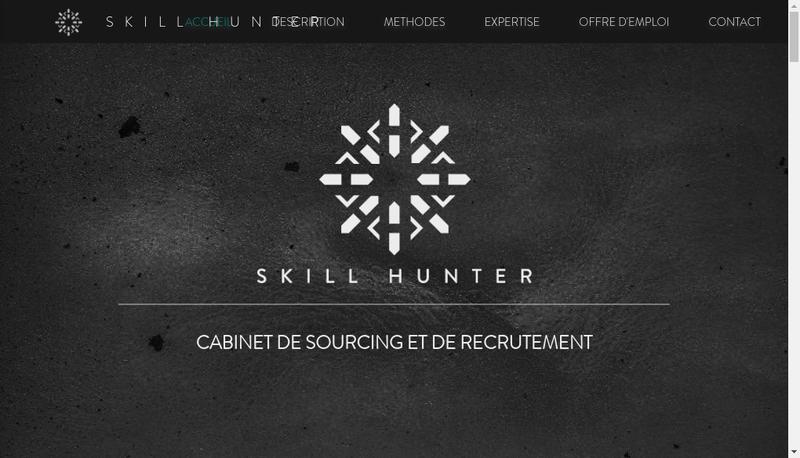 Capture d'écran du site de Skill Hunter