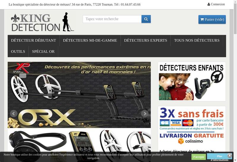 Site internet de King Detection Trading