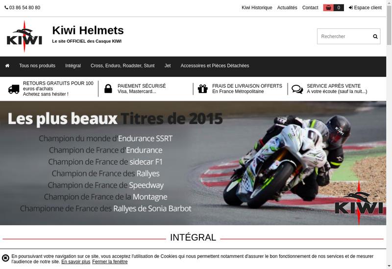 Capture d'écran du site de Tilt Moto-Up Kiwi Kiwi Italia