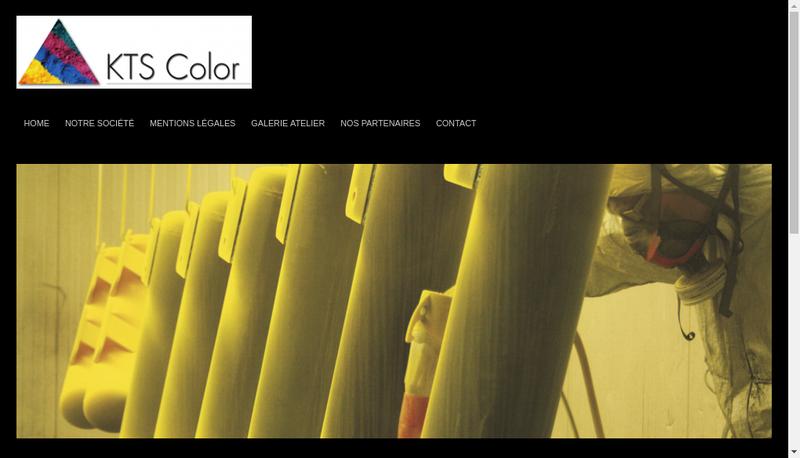 Capture d'écran du site de Kts Color