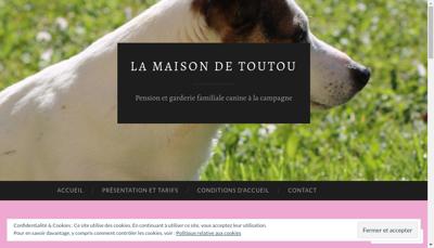 Capture d'écran du site de LA MAISON DE TOUTOU