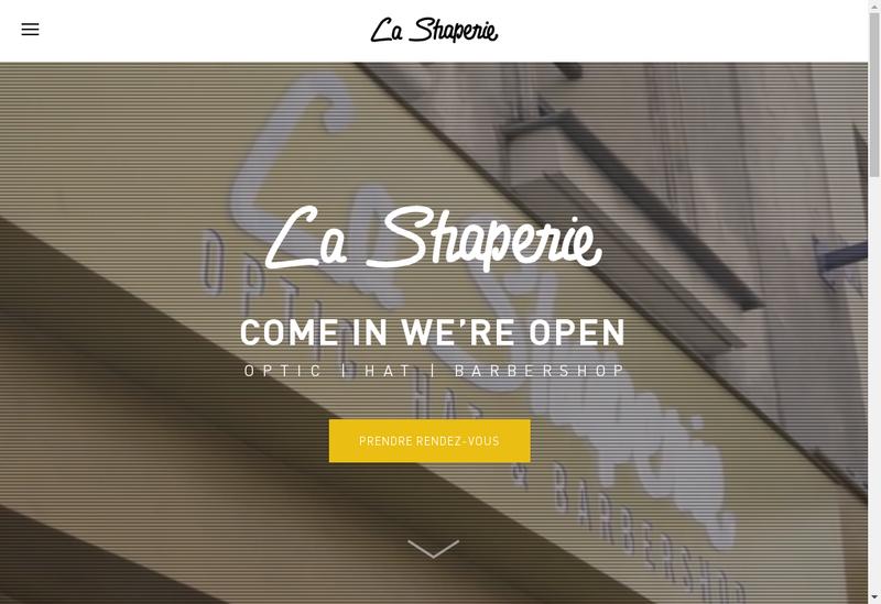 Capture d'écran du site de La Shaperie