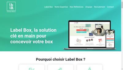 Site internet de Label Box