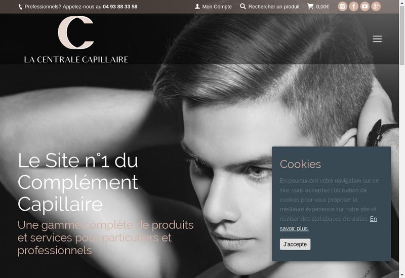 Capture d'écran du site de La Centrale Capillaire