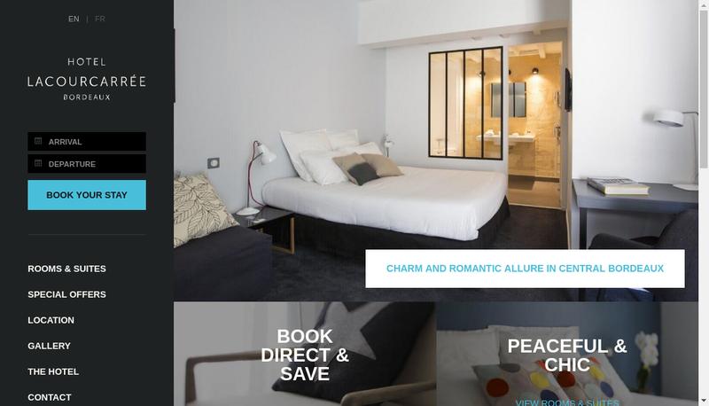 Capture d'écran du site de Hotel la Cour Carree
