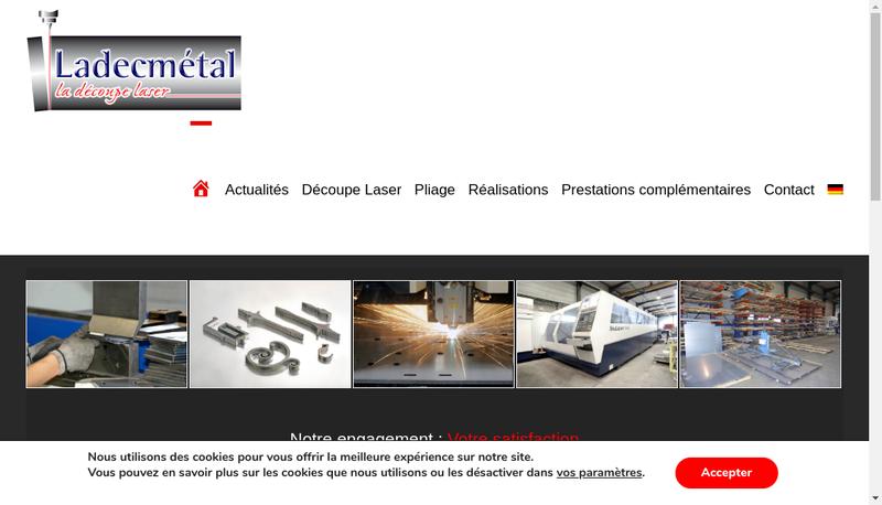 Capture d'écran du site de Ladecmetal