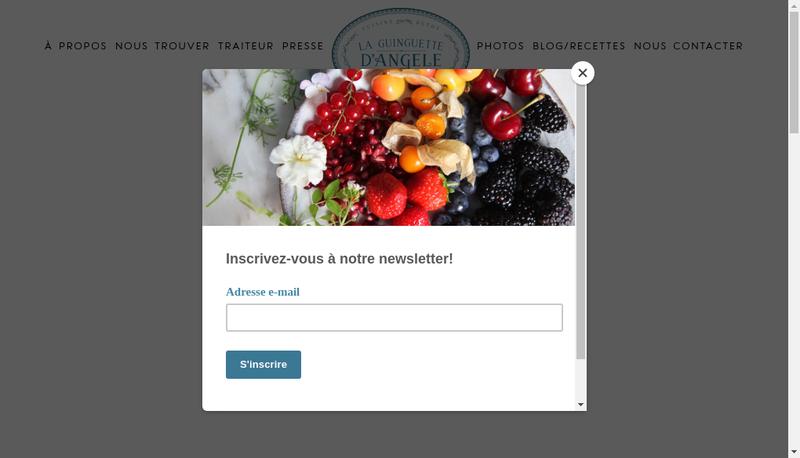 Capture d'écran du site de La Guinguette d'Angele