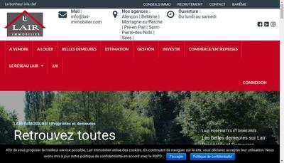 Site internet de Lair Immobilier