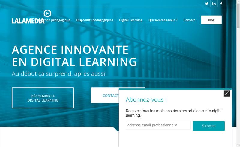 Capture d'écran du site de Lalamedia