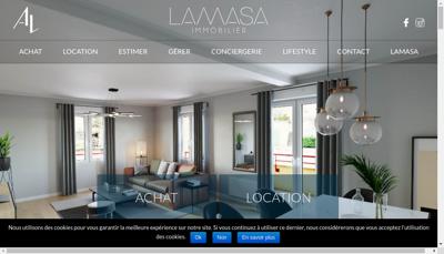 Capture d'écran du site de Agence Lamasa