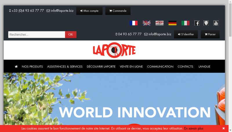 Capture d'écran du site de Laporte Ball Trap