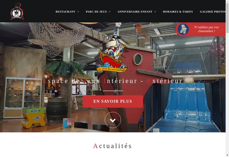 Capture d'écran du site de Table Pirates-La Recre Moussaillons