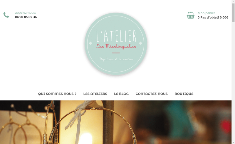 Capture d'écran du site de Atelier des Misstinguettes