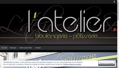 Site internet de L'Atelier des Sens