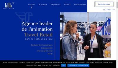 Site internet de Lbl Travel Retail