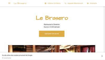 Site internet de Le Brasero