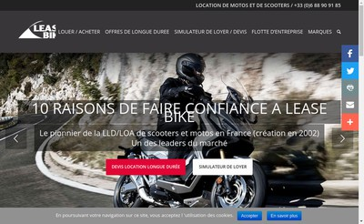 Site internet de Lease Bike France