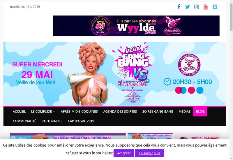 Capture d'écran du site de La Chrysalide