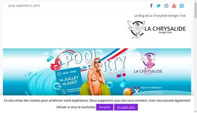 Site internet de La Chrysalide