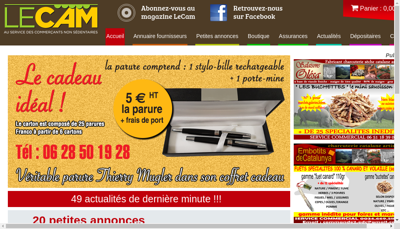 Capture d'écran du site de Le Grossiste Bijoux