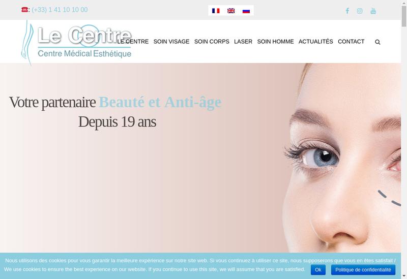 Capture d'écran du site de SELARL Dr Jean Marc Adda