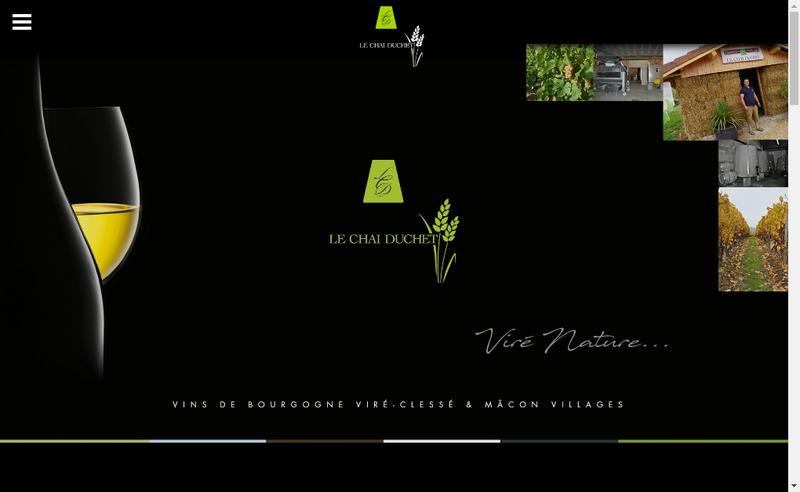 Capture d'écran du site de Le Chai Duchet