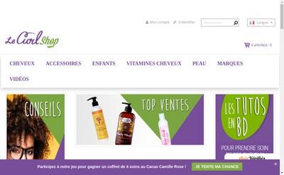 Site internet de Le Curlshop