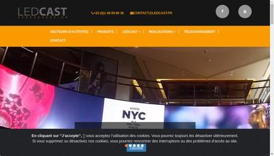 Site internet de Ledcast