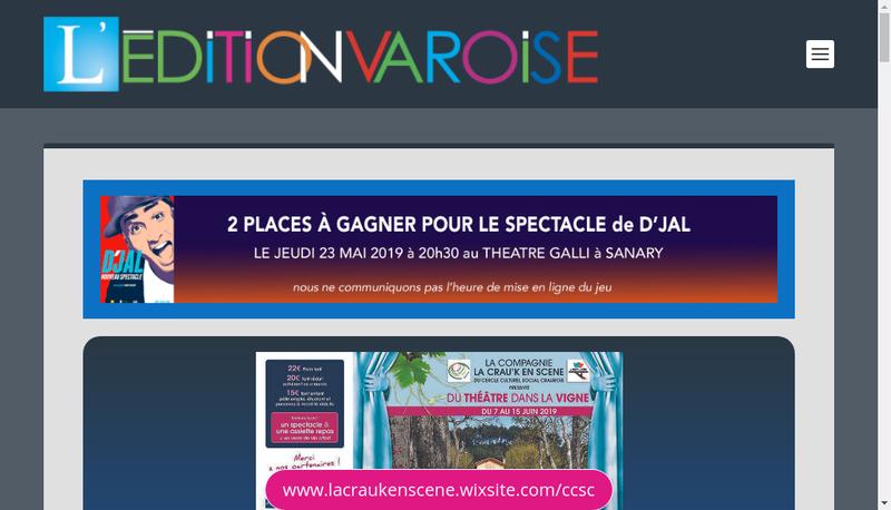 Capture d'écran du site de L'Edition