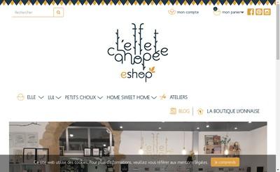 Site internet de L'Effet Canopee